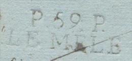 ORNE LE MELE PP Linéaire 33 Mm  Daté Du 8 Octobre 1809  Taxe 2 Au Verso TTB  Ind 15 - Marcophilie (Lettres)