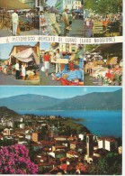 LUINO Pittoresco Mercato Lago Maggiore Lombardia Varese 2 Cartoline - Luino