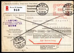 A3086) Schweiz Einzugsmandat Von Bern 20.7.1950 Nach St. Maurice - Suisse
