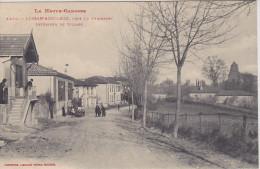 Cpa Lussan-Adeilhac, Près Le Fousseret.  Intérieur Du Village. ( 2 Scans ) - France