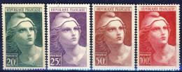 ##B840. France 1945. Marianne De Gandon, Big Size. Michel 703-06. MNH(**) Small Gum Fault On The 100F Item! - Ungebraucht