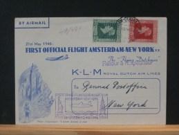 49/471    1° VLUCHT NAAR NEW YORK  1946 - Luchtpost
