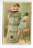 THMS  Chromos  Suchard, Enfants Et Chocolatière - Suchard