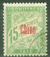 Chine   Taxe   3 Ob  TB - China (1894-1922)