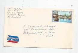 Cd , Lettre , POLYNESIE FRANCAISE , Port Autonome De PAPEETE , Airmail - Polinesia Francesa