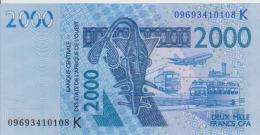 West African States 2000 Francs 2009 Pick 716K UNC - West-Afrikaanse Staten