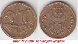 Sud Africa 10 Cents 2003 Km#347 - Used - Sud Africa