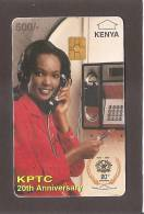 KENYA - KPTC  500 U  Black Value ,used. - Kenya