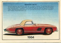 CALENDRIER 1984(AUTOMOBILE MERCEDES) - Calendriers