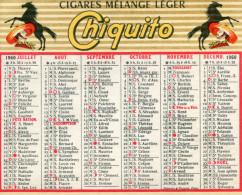 CALENDRIER 1960(CIGARE CHIQUITO) - Calendarios