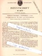 Original Patent - A. Martikke In Schönebeck A. D. Elbe , 1880 , Echtheitsmesser Für Goldmünze Und Silbermünzen !!! - [ 2] 1871-1918: Deutsches Kaiserreich