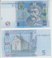 Ukraine 5 Hryvna  2005 Pick 118 UNC Sign Stelmah - Ukraine