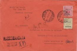 OCCUPAZIONE ANGLO-AMERICANA DELLA SICILIA - TERMINI IMERESE 1944 - LIRE 2 E CENT. 25 SU RACCOMANDATA - S9018 - Occup. Anglo-americana: Sicilia