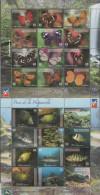 DOMINICAN REPUBLIC , 2014, MNH, FAUNA, INSECTS, BUTTERFLIES, FISH, EELS, STINGRAYS, 2 SHEETLETS, NICE! - Vissen