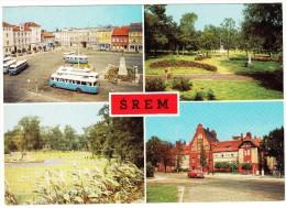 Srem: 8x AUTOBUS/COACH, MOSKVITCH 408  - Rynek, Park, Sanatorium - Poland - Passenger Cars