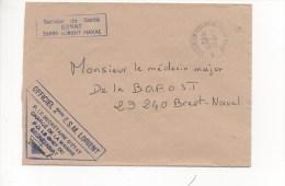 Lettre En Franchise 2ème ESCADRILLE DE SOUS-MARINS  LORIENT CAD 56998 CENTRE DE SOUS-MARINS LORIENT MARINE 25/09/1989 - Naval Post