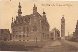 Comines  - La Mairie Et L'Eglise - Comines-Warneton - Komen-Waasten
