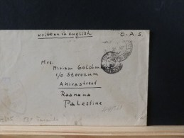 49/520   LETTER  TO PALESTINA  CENSOR  O.A.S. - 1902-1951 (Kings)