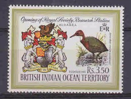 British Indean Ocean 1971 Bird / Coat Of Arms 1v ** Mnh (20815) - Brits Indische Oceaanterritorium