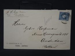 JAPON- LETTRE DE KOBE POUR AMSTERDAM VIA SEATTLE  PAR BATEAU ( SS LYS MARN) 1905   A VOIR    LOT P3049 - Covers & Documents
