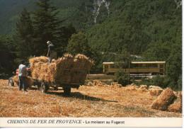 CP - CHEMINS DE FER DE PROVENCE - LA MOISSON AU FUGERET - A 89 - - Eisenbahnen