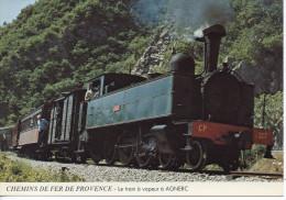 CP - CHEMINS DE FER DE PROVENCE - LE TRAIN A VAPEUR A AGNERC - A 131 - Trains