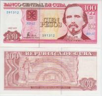 Cuba 100 Pesos 2005 Pick 129 UNC