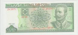 Cuba 5 Pesos 2003 Pick 116 UNC