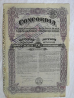 Action 250 LEI 1920 CONCORDIA Societe Anonyme Roumaine Share Siege à PLOESTI ROUMANIE Obligation COUPONS - Mines