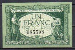 388- Saint-Etienne Billet De 1 Franc 1921 - Chambre De Commerce