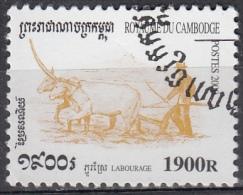 Cambogia, 2000 - 1900r Plowing - Nr.1967 Usato° - Cambogia