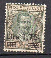 1924 - Regno Sovrastampato  N. 182  Timbrato Used - Bello Sassone 50 Euro - 1900-44 Victor Emmanuel III