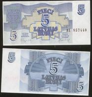 Latvia 5 Rublis  1992  Pick 37 UNC - Lettonie