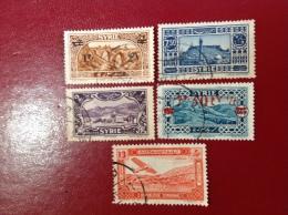 Petit Lot De 5 Timbres De Syrie Obliteres - Syrie (1919-1945)
