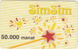 AZERBAIJAN - Stars(yellow), Azercell Prepaid Card 50000 Manat, Used - Azerbaïjan