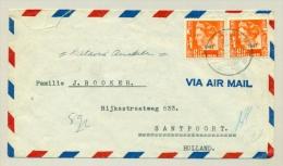 Nederlands Indië - 1948 - LB Soengeiliat Op Cover Naar Santpoort/NL - Netherlands Indies