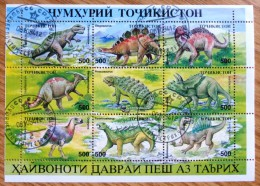 1994 Tajikistan Stamp Mint-CTO Sheet-Prehistoric Animals-Wild No MIN-642. - Stamps