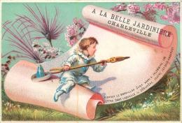 CHROMO A LA BELLE JARDINIERE  CHARLEVILLE EDITION LAAS VOIR LES 2 SCANS - Chromos