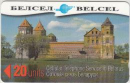 BELARUS(GPT) - Mirski Castle, Belcel Telecard 20 Units, CN : 34NA, Used - Belarus