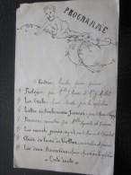 Programme Musical Marche Pour Piano Prologue ,danse Clairde Lune,sérénade,la Vanité Suivi D'une Sauterie, Buffet - Programmes