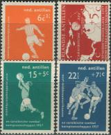 Ned. Antillen 1957. Michel #60/63 MNH/Luxe. Soccer. (TS22)
