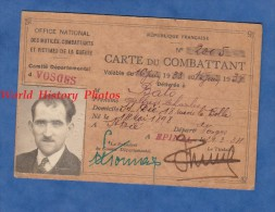 Carte Ancienne Du Combattant - Poilu Alfred Charles BATO Né En 1898 Et Domicilié à SAINT Dié ( Vosges ) - 1934 - Vieux Papiers