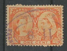 Anniversaire Du Règne De Victoria 1c Orange - Used Stamps
