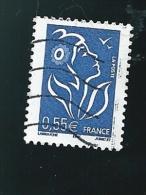 N° 3755 Marianne Type Lamouche 0,55€ Bleu  Timbre France Oblitéré 2005 - 2004-08 Marianne De Lamouche