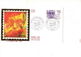 ENVELOPPE 1ER JOUR---J.P SARTRE---PARIS---23 FEVRIER 1985 - FDC