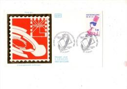 ENVELOPPE 1ER JOUR---D'ENSEIGNEMENT TECHNIQUE---38 VOIRON---4 OCTOBRE 1986 - FDC