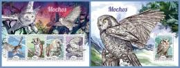 gb15203ab Guinea Bissau 2015 Birds Owls 2 s/s
