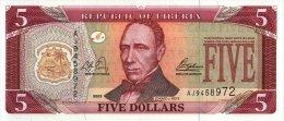 Liberia 5 Dollars 2006  Pick 26 UNC - Liberia