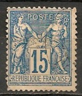 Timbres - France - 1898-1900 - Sage - Type II - 15 C. - N° 90 -