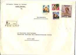 COMUNE DI FONTENO - 24060 PROV BERGAMO - 1981 - R - FTO 18x24 - TEMA TOPIC COMUNI D´ITALIA - STORIA POSTALE - Affrancature Meccaniche Rosse (EMA)
